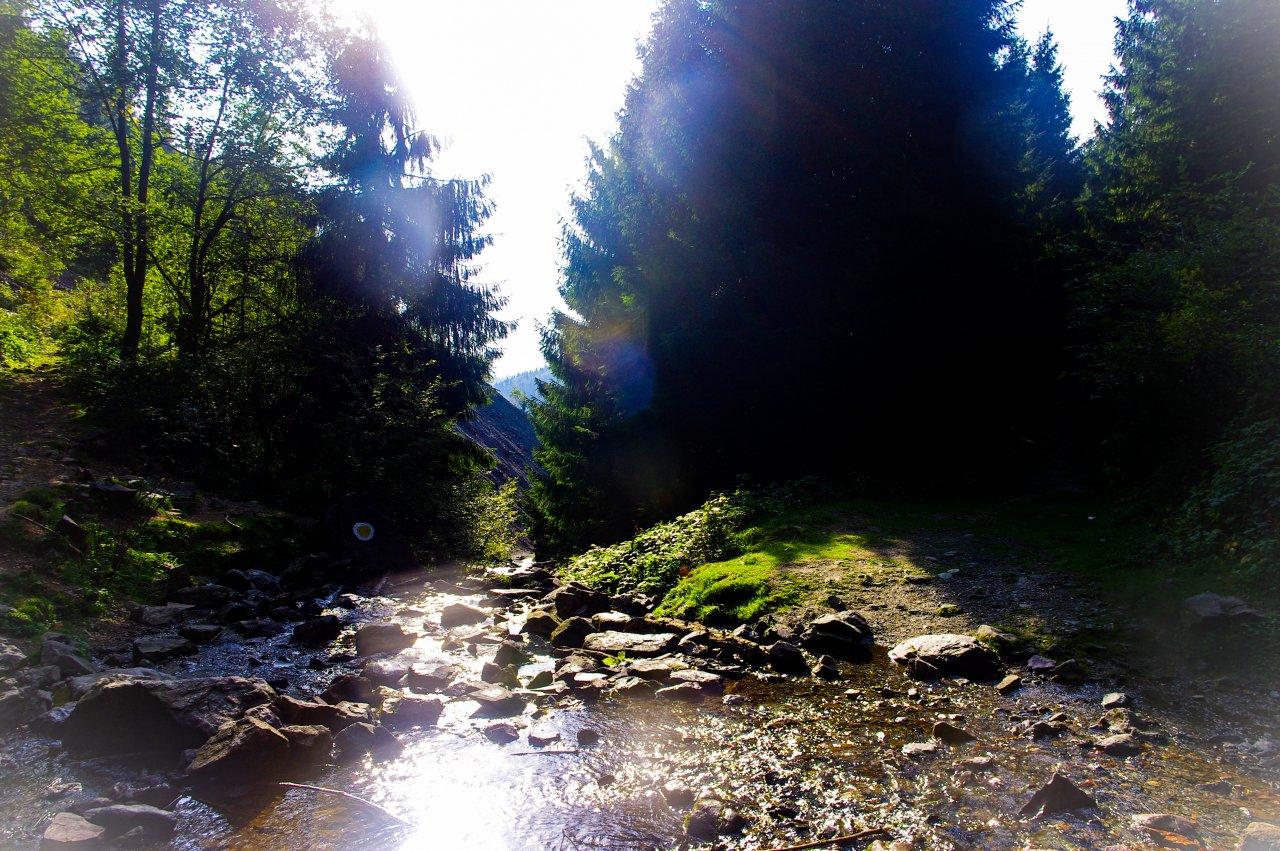 A vizesés mentén, az út ahonnan érkeztünk