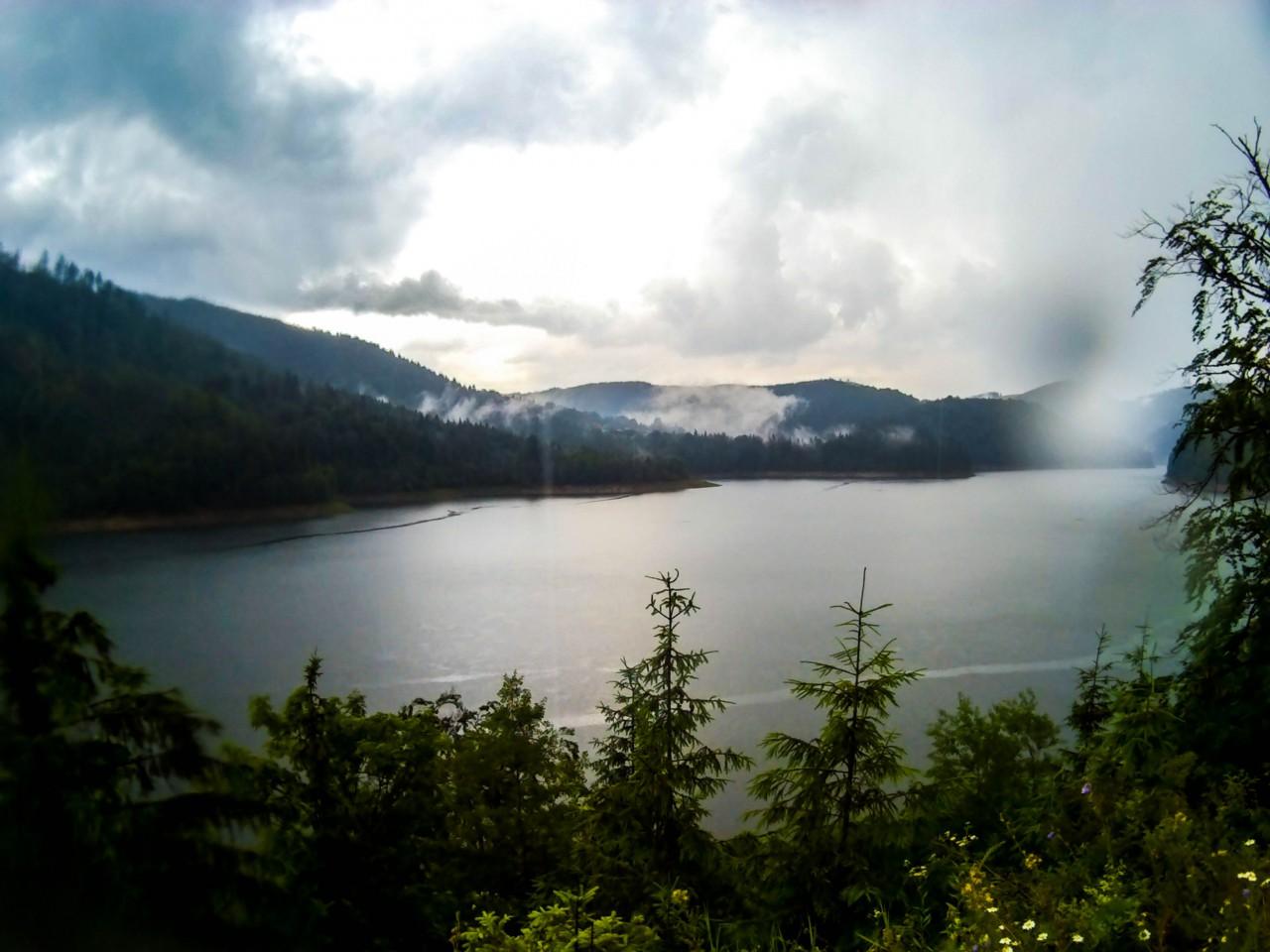 Az eső utáni Dregán-víztározó