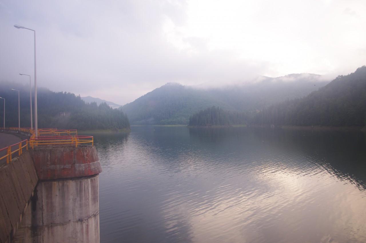 Kilátás a víztározó déli része felé