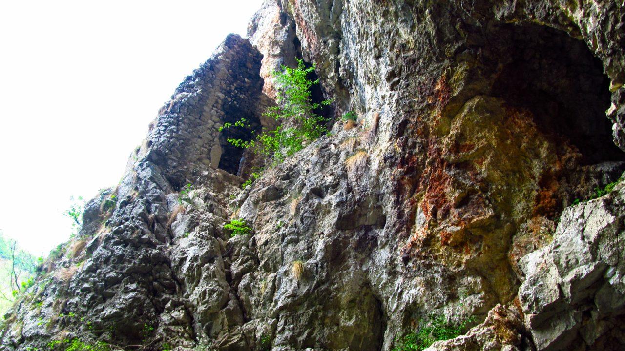 A Tündérvirág-barlang bejárata mellett