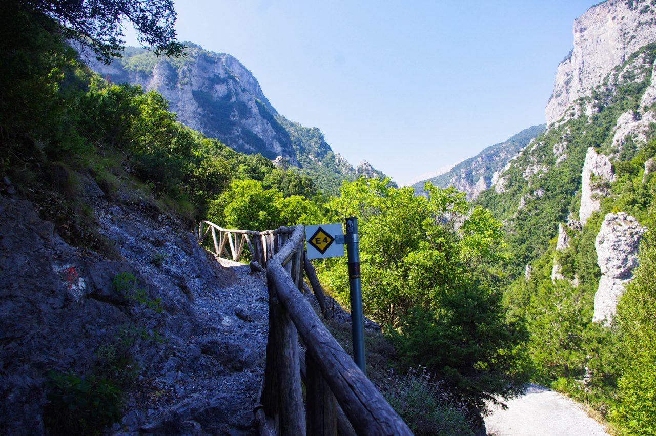 Az E4-es Európai túraútvonal.
