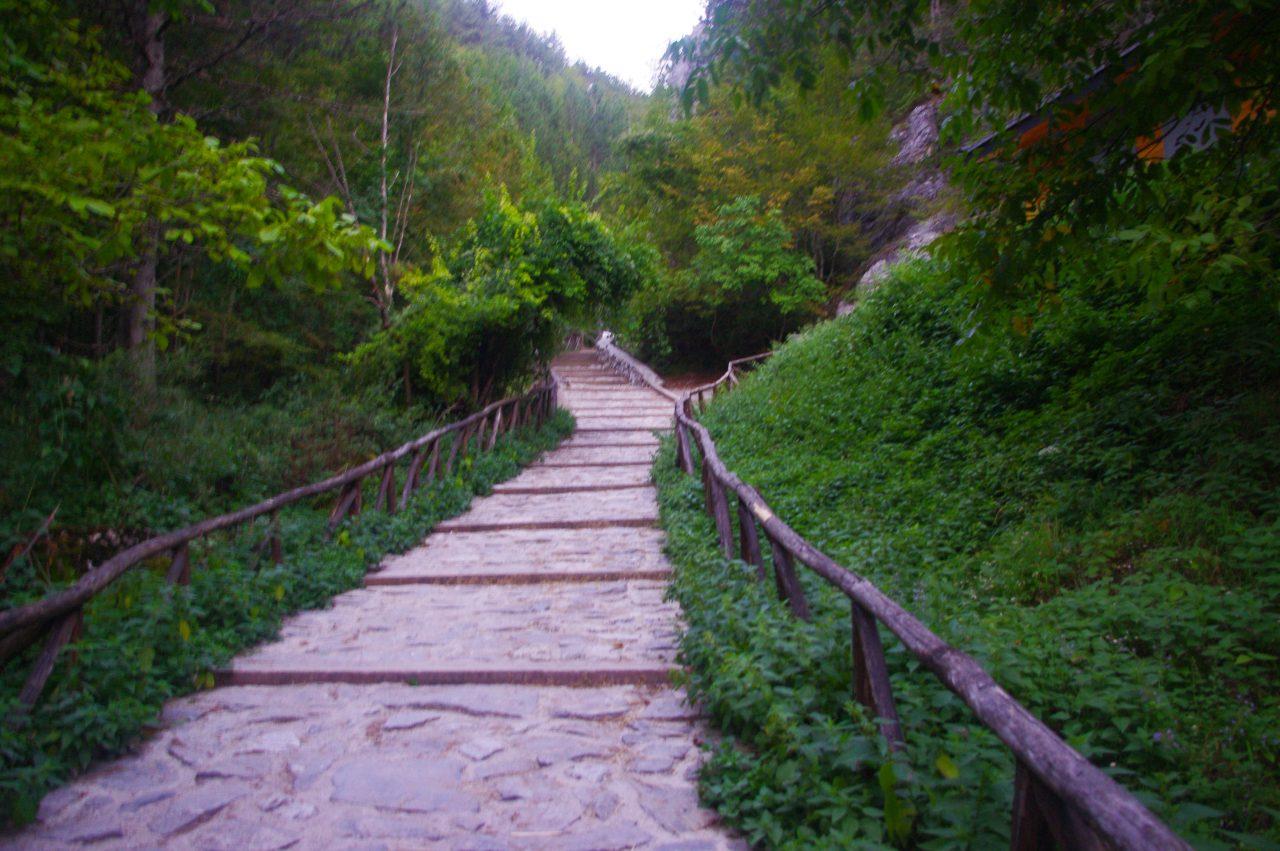 A turistaút kezdete Piróniában