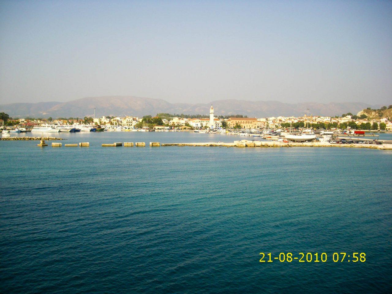A Zakynthosi kikötő