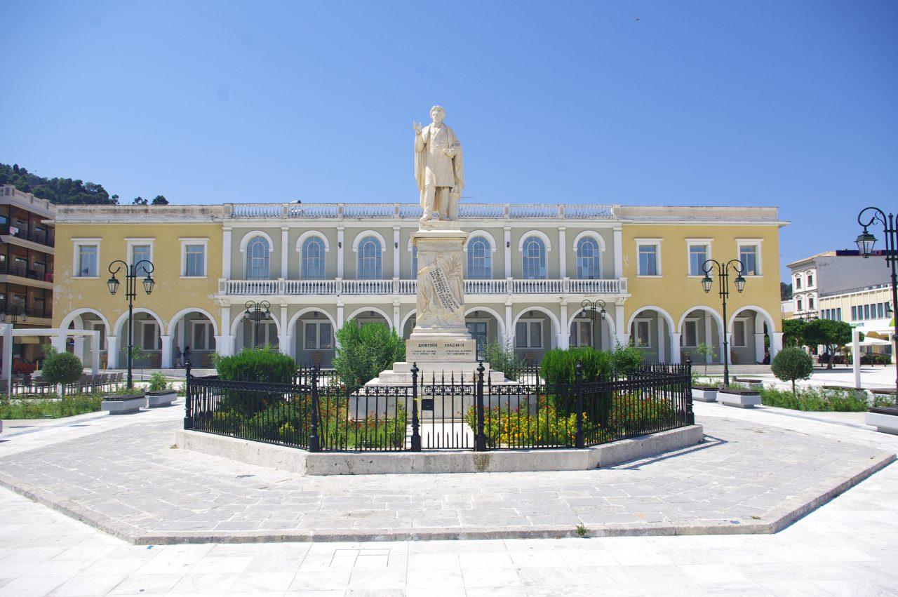 Dionisziosz Szolomosz szobra